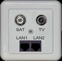 Розетка підключення інтернет до коаксіального кабелю