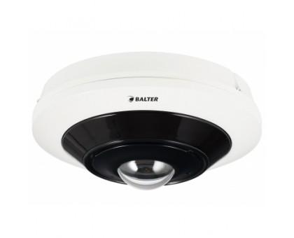 BALTER 5.0MP панорамна IP відеокамера, 180°/360°, ІК 15м, Micro SD, Audio, H.265, WDR, VCA, P2P, PoE/12V DC, IP66