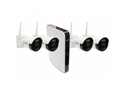 BALTER IP беспроводной комплект для видеонаблюдения, 8-кан DVR с 1TB, 4x 2MP наружные аккумуляторные WiFI камеры с ИК
