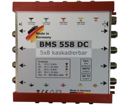 Каскадный мультисвич BMS 558 DC, для колективного приймання супутникового та ефірного  телебачення