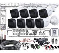 Комплект видеонаблюдения 8 Full HD камеры