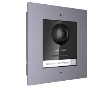 DS-KD8003-IME1/FLUSH Комплект модуля вызывной IP панели + врезная рамка