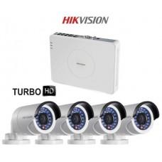 Комплект видеонаблюдения Hikvision HD-TVI- DS-2CE16C0T-IR-4