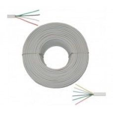 Сигнальный кабель CCA 2х0,22 неэкранированный, белый