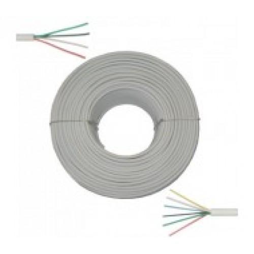 кабель rg 6u cu 75 75 ом 100м белый тройной экран master rexant